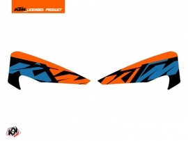 Graphic Kit Hand Guards Stickers Skyline Dirt Bike KTM EXC-EXCF Blue