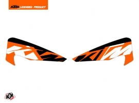 Graphic Kit Hand Guards Stickers Skyline Dirt Bike KTM EXC-EXCF Orange