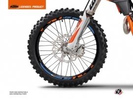 Graphic Kit Wheel decals Skyline Dirt Bike KTM SX-SXF EXC-EXCF Blue