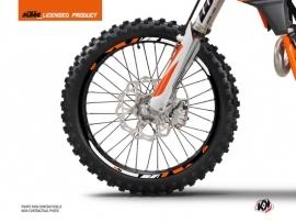 Graphic Kit Wheel decals Skyline Dirt Bike KTM SX-SXF EXC-EXCF Orange