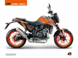 Kit Déco Moto Slash KTM Duke 690 R Orange Bleu