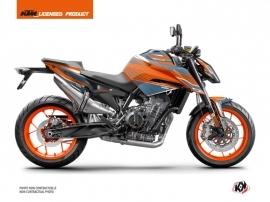 Kit Déco Moto Slash KTM Duke 790 Orange Bleu