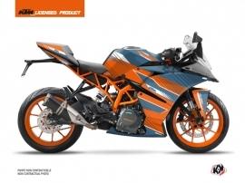 KTM 125 RC Street Bike Slash Graphic Kit Orange Blue