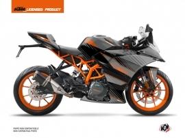 KTM 390 RC Street Bike Slash Graphic Kit Black Orange