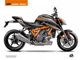 KTM Super Duke 1290 R Street Bike Slash Graphic Kit Black Orange