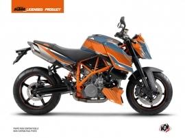 KTM Super Duke 990 Street Bike Slash Graphic Kit Orange Blue