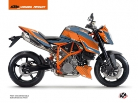 KTM Super Duke 990 R Street Bike Slash Graphic Kit Orange Blue
