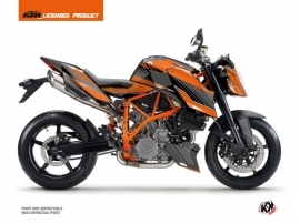 KTM Super Duke 990 R Street Bike Slash Graphic Kit Orange Black