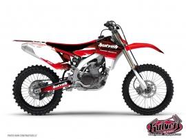 Yamaha 250 YZ Dirt Bike Slider Graphic Kit Red