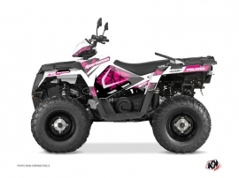 Polaris 570 Sportsman Touring ATV Spin Graphic Kit Pink