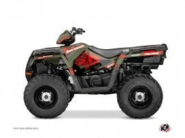 Polaris 570 Sportsman Touring ATV Spin Graphic Kit Red