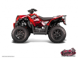 Polaris Scrambler 850-1000 XP ATV Spirit Graphic Kit Red FULL
