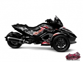 Can Am Spyder RS Roadster Spirit Graphic Kit Grey