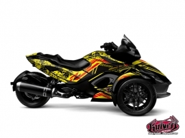 Can Am Spyder RS Roadster Spirit Graphic Kit Yellow