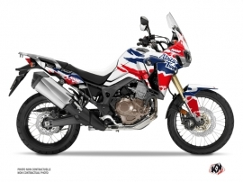 Honda Africa Twin CRF 1000 L Street Bike Splash Graphic Kit Red Blue