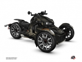 Can Am Ryker 600 900 Rally Edition Roadster Splinter Graphic Kit Black