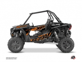 Polaris RZR 1000 Turbo UTV Splinter Graphic Kit Black Orange