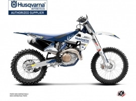Husqvarna FC 250 Dirt Bike Split Graphic Kit White Blue
