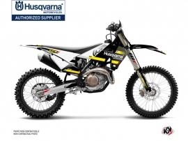 Kit Déco Moto Cross Split Husqvarna 350 FE Noir Jaune