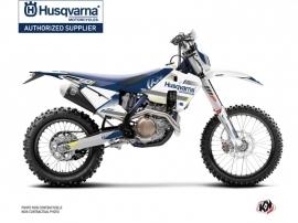 Husqvarna 501 FE Dirt Bike Split Graphic Kit White Blue