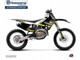 Kit Déco Moto Cross Split Husqvarna TC 125 Noir Jaune