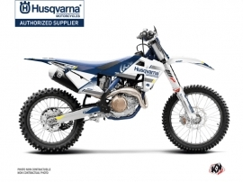Kit Déco Moto Cross Split Husqvarna TC 125 Blanc Bleu