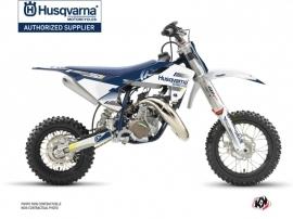 Kit Déco Moto Cross Split Husqvarna TC 50 Blanc Bleu