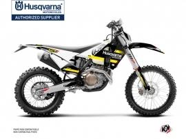 Husqvarna 150 TE Dirt Bike Split Graphic Kit Black Yellow