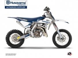 Husqvarna TC 65 Dirt Bike Split Graphic Kit White Blue