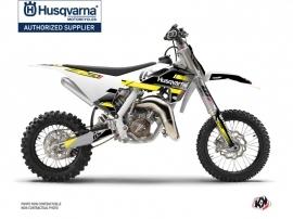 Husqvarna TC 65 Dirt Bike Split Graphic Kit Black Yellow