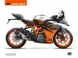 KTM 125 RC Street Bike Spring Graphic Kit White Orange