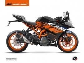 KTM 390 RC Street Bike Spring Graphic Kit Black Orange