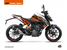 Kit Déco Moto Spring KTM Duke 390 Blanc Orange