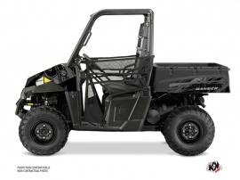Polaris Ranger EV UTV Squad Graphic Kit Black Grey