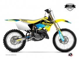 Suzuki 250 RM Dirt Bike Stage Graphic Kit Yellow Blue LIGHT