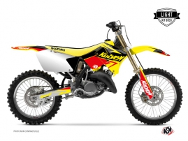 Suzuki 125 RM Dirt Bike Stage Graphic Kit Yellow Red LIGHT