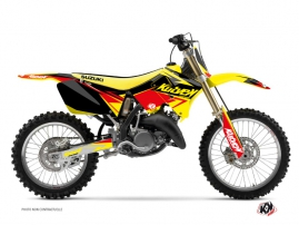 Suzuki 125 RM Dirt Bike Stage Graphic Kit Yellow Red