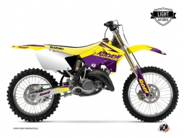 Suzuki 125 RM Dirt Bike Stage Graphic Kit Yellow Purple LIGHT