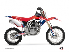 Kit Déco Moto Cross Stage Honda 150 CRF Bleu Rouge