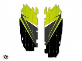 Graphic Kit Radiator guards Stage Kawasaki 250 KXF 2013-2016 Green