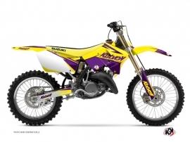 Suzuki 250 RM Dirt Bike Stage Graphic Kit Yellow Purple