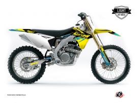 Suzuki 250 RMZ Dirt Bike Stage Graphic Kit Yellow Blue LIGHT