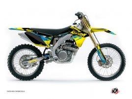 Suzuki 250 RMZ Dirt Bike Stage Graphic Kit Yellow Blue
