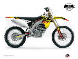 Suzuki 250 RMZ Dirt Bike Stage Graphic Kit Yellow Red LIGHT