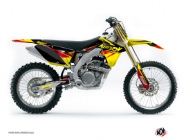 Suzuki 250 RMZ Dirt Bike Stage Graphic Kit Yellow Red