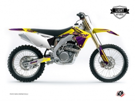 Suzuki 250 RMZ Dirt Bike Stage Graphic Kit Yellow Purple LIGHT