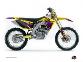 Suzuki 250 RMZ Dirt Bike Stage Graphic Kit Yellow Purple