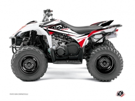 Yamaha 350-450 Wolverine ATV Stage Graphic Kit Black Red