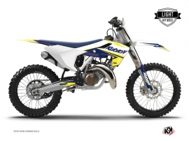 Kit Déco Moto Cross Stage Husqvarna FC 350 Blanc Jaune LIGHT