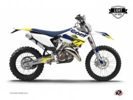 Husqvarna 350 FE Dirt Bike Stage Graphic Kit White Yellow LIGHT